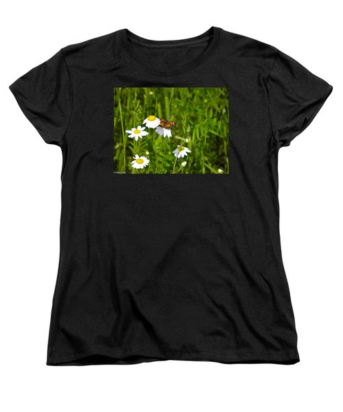 Daisey And Butterfly Women's T-Shirt (Standard Cut) by Nick Kirby