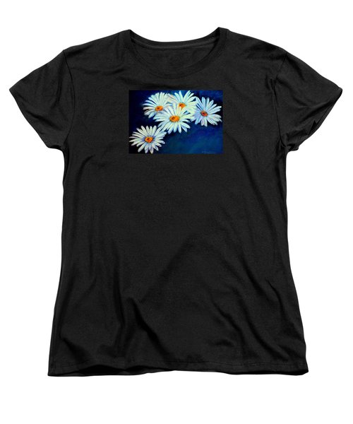 Women's T-Shirt (Standard Cut) featuring the pastel Daisy Fever  Pastel by Antonia Citrino