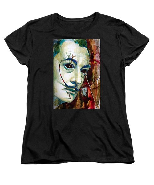 Women's T-Shirt (Standard Cut) featuring the painting Dali 2 by Laur Iduc