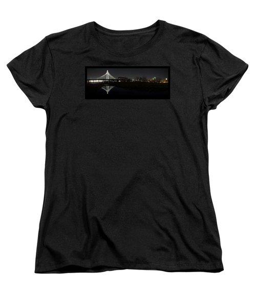 Dallas Skyline Hunt Bridge Color Women's T-Shirt (Standard Cut) by Jonathan Davison