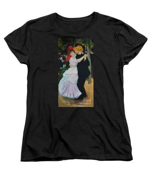 Women's T-Shirt (Standard Cut) featuring the painting Dance At Bougival Renoir by Eric  Schiabor