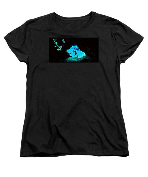 Women's T-Shirt (Standard Cut) featuring the photograph Dancer On The Edge Of Time by Susanne Still