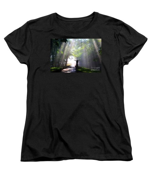 Dancing In God's Light Copyright Willadawn Photography Women's T-Shirt (Standard Cut)
