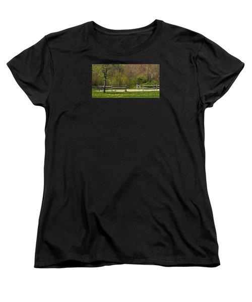 Women's T-Shirt (Standard Cut) featuring the photograph Dandelion Dressage by Joan Davis