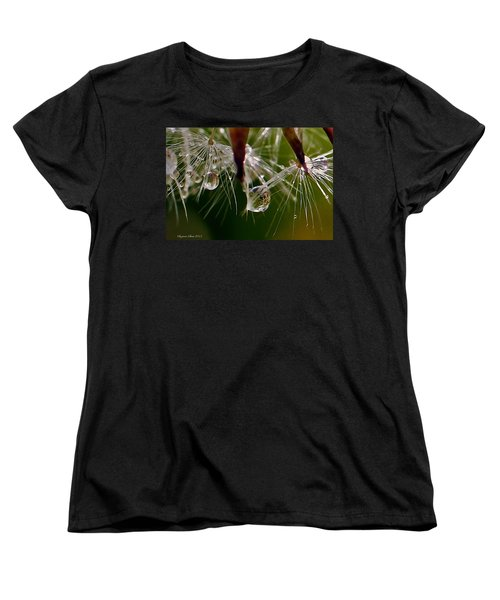 Dandelion Droplets Women's T-Shirt (Standard Cut) by Suzanne Stout