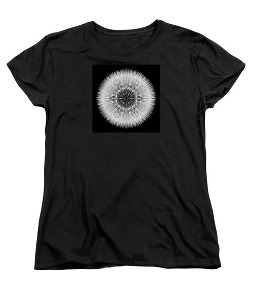 Dandelion Head Flower Mandala Women's T-Shirt (Standard Cut) by David J Bookbinder