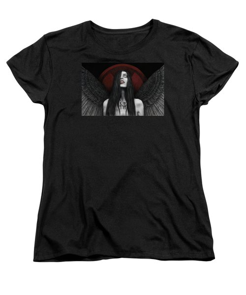 Women's T-Shirt (Standard Cut) featuring the painting Dark Angel by Pat Erickson