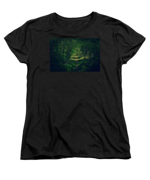 Dark Forest Women's T-Shirt (Standard Cut) by Daniel Precht