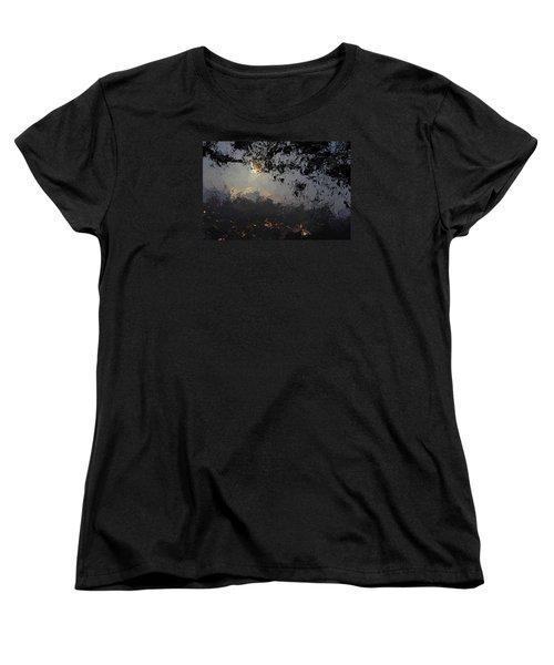 Dark Rain Women's T-Shirt (Standard Cut) by The Art of Alice Terrill