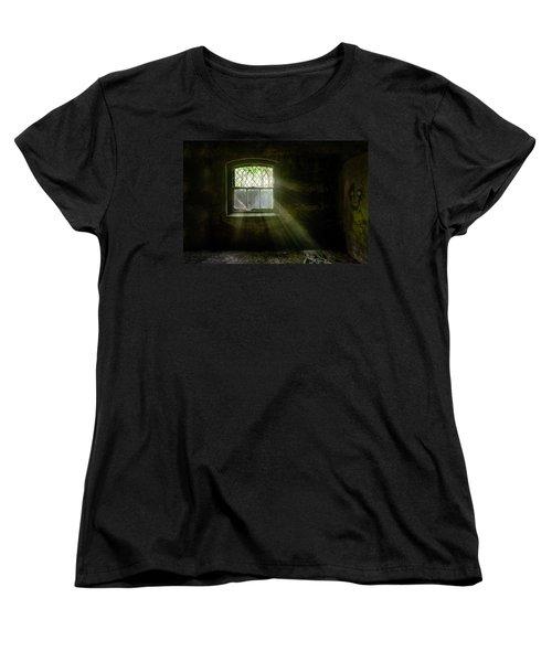 Darkness Revealed - Basement Room Of An Abandoned Asylum Women's T-Shirt (Standard Cut)