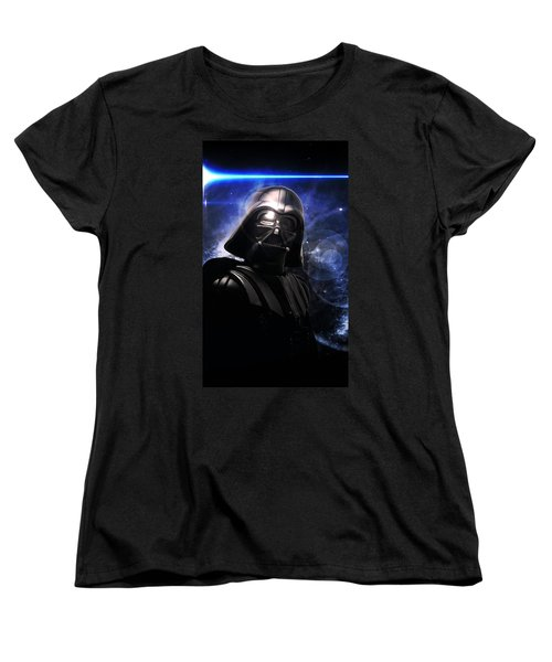 Women's T-Shirt (Standard Cut) featuring the photograph Darth Vader by Aaron Berg