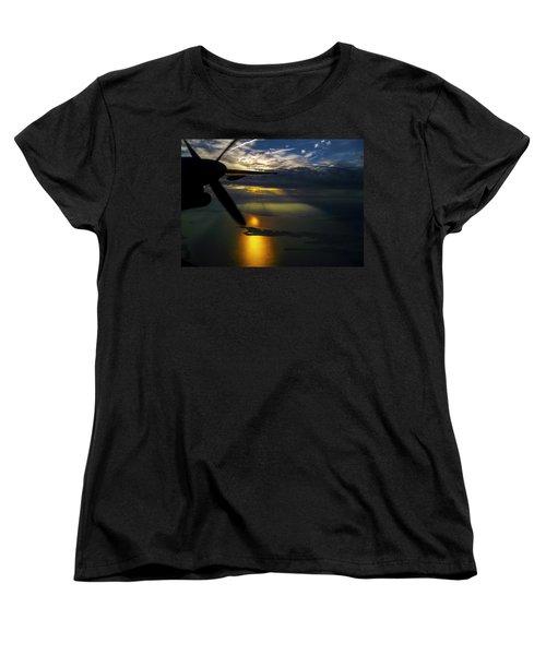 Dash Of Sunset Women's T-Shirt (Standard Cut) by Greg Reed