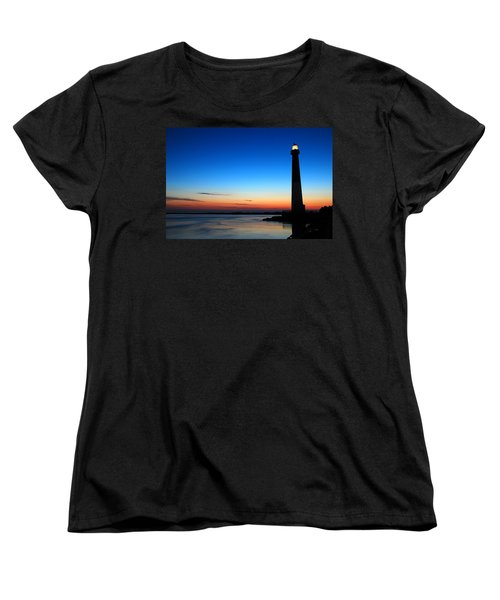 Women's T-Shirt (Standard Cut) featuring the photograph Dawn At Barnegat Light by James Kirkikis