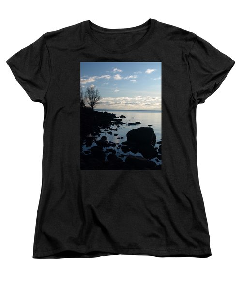 Women's T-Shirt (Standard Cut) featuring the photograph Dawn At The Cove by James Peterson