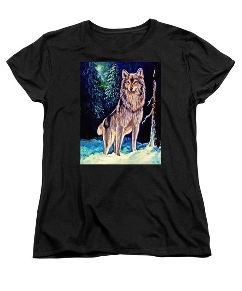 Women's T-Shirt (Standard Cut) featuring the painting Dawn Of A New Day Original Painting Forsale by  Nadine Johnston