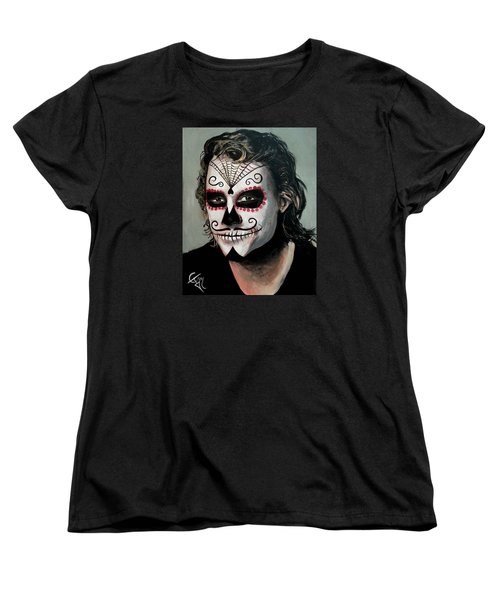 Day Of The Dead - Heath Ledger Women's T-Shirt (Standard Cut) by Tom Carlton