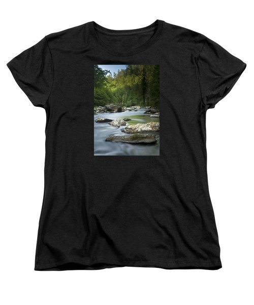 Women's T-Shirt (Standard Cut) featuring the photograph Daybreak In The Valley by Andy Crawford