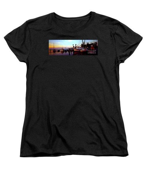 Women's T-Shirt (Standard Cut) featuring the photograph Daytona Beach Fl Last Chance Miss Hazel And Sonny Boy by Tom Jelen