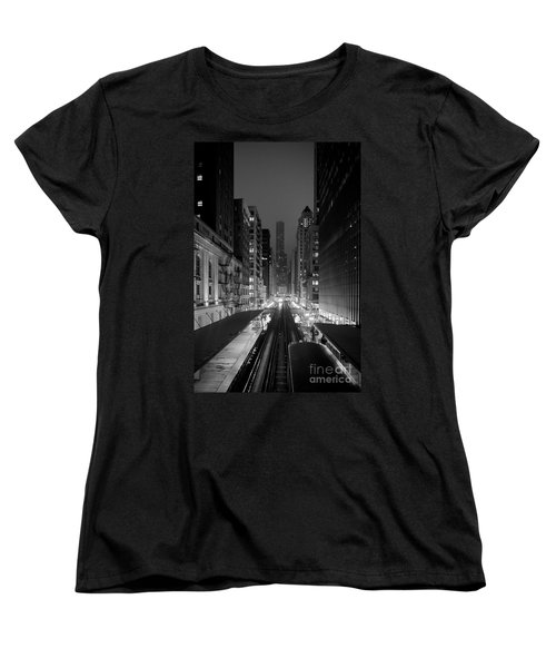 Women's T-Shirt (Standard Cut) featuring the photograph Dear Chicago You're Beautiful by Peta Thames