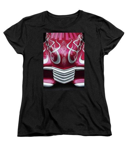 Women's T-Shirt (Standard Cut) featuring the photograph Decorative Chevrolet Hood by Dave Mills