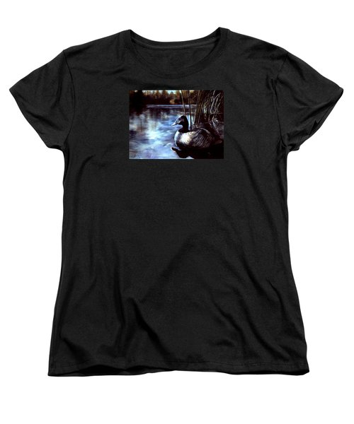 Women's T-Shirt (Standard Cut) featuring the painting Decoy At Tealwood by Pattie Wall