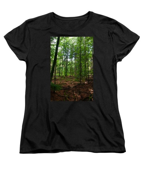 Deep Forest Trails Women's T-Shirt (Standard Cut) by Miguel Winterpacht