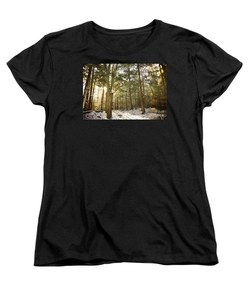 Women's T-Shirt (Standard Cut) featuring the photograph Deep In The Forest by Alana Ranney