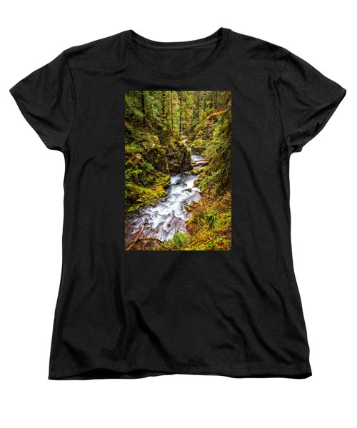 Deep In The Forest Women's T-Shirt (Standard Cut) by Ken Stanback