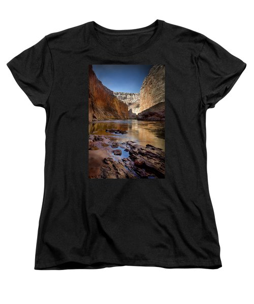 Deep Inside The Grand Canyon Women's T-Shirt (Standard Cut) by Ellen Heaverlo
