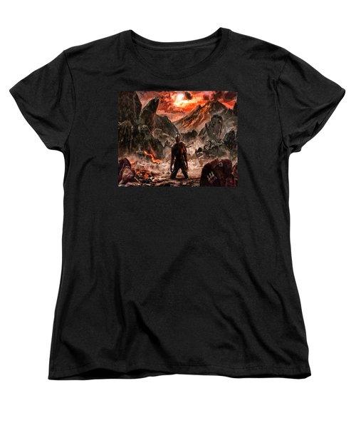 Defiant To The End Women's T-Shirt (Standard Cut) by Joe Misrasi