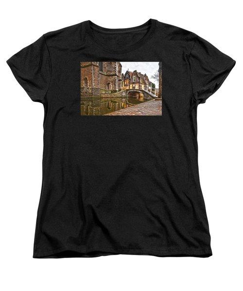 Delft Behind The Church Women's T-Shirt (Standard Cut) by Frans Blok