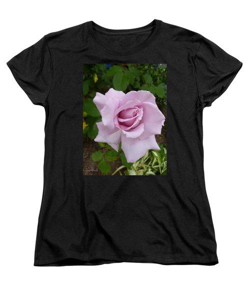Women's T-Shirt (Standard Cut) featuring the photograph Delicate Purple Rose by Lingfai Leung