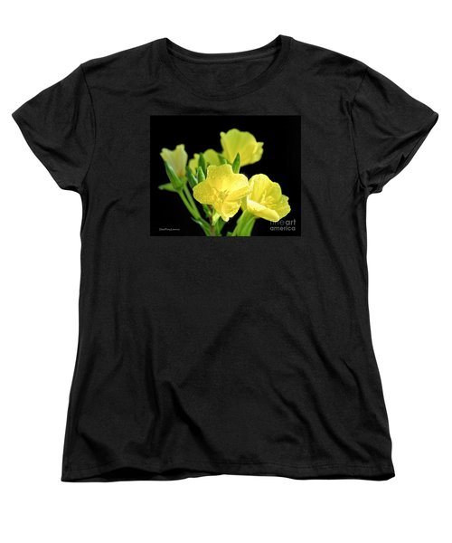 Delicate Yellow Wildflowers In The Sun Women's T-Shirt (Standard Cut) by David Perry Lawrence