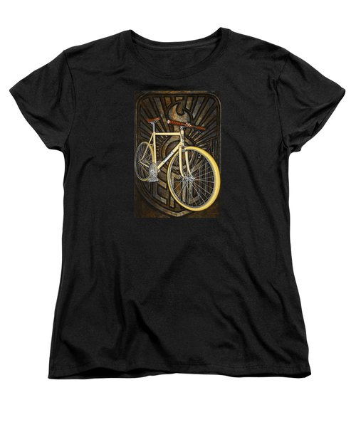 Women's T-Shirt (Standard Cut) featuring the painting Demon Path Racer Bicycle by Mark Howard Jones