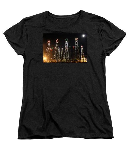 Derricks Under A Full Moon Women's T-Shirt (Standard Cut)