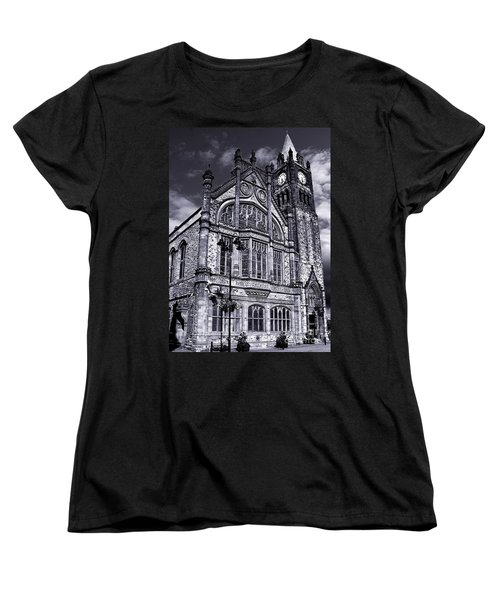 Women's T-Shirt (Standard Cut) featuring the photograph Derry Guildhall by Nina Ficur Feenan