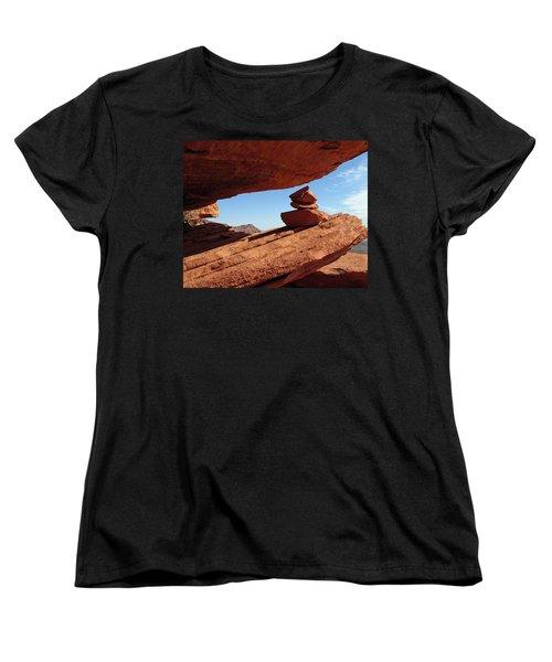 Women's T-Shirt (Standard Cut) featuring the photograph Desert Signpost by Alan Socolik