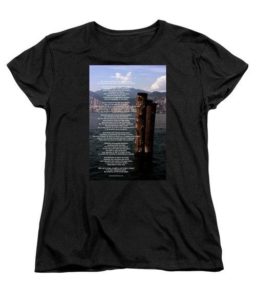 Desiderata On Lake View Women's T-Shirt (Standard Cut) by Leena Pekkalainen