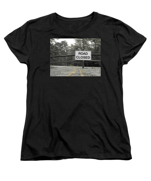 Women's T-Shirt (Standard Cut) featuring the photograph Detour by Michael Krek