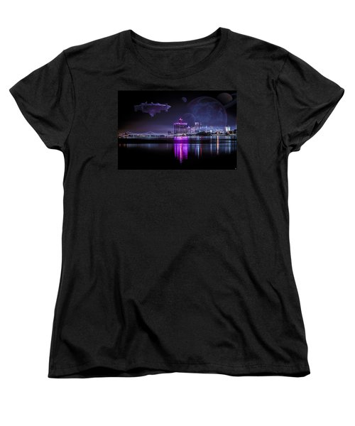 Women's T-Shirt (Standard Cut) featuring the photograph Detroit Worlds by Nicholas  Grunas