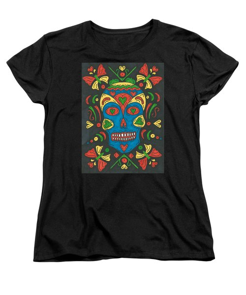 Women's T-Shirt (Standard Cut) featuring the painting Dia De Los Muertos by Susie Weber