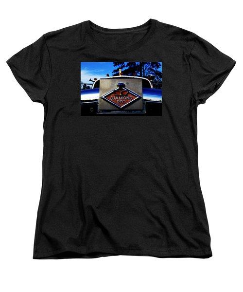 Women's T-Shirt (Standard Cut) featuring the photograph Diamond Reo Hood Ornament by Bartz Johnson