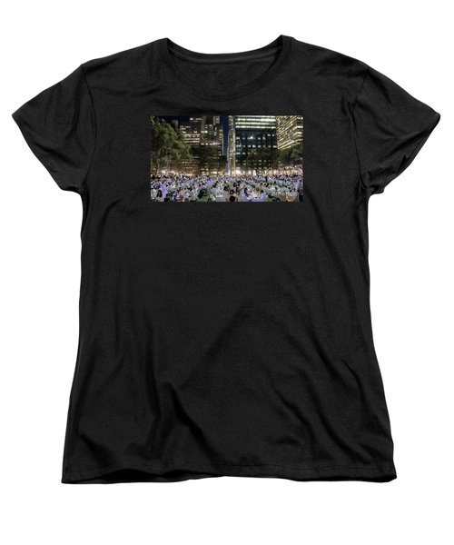 Diner En Blanc New York 2013 Women's T-Shirt (Standard Cut) by Lilliana Mendez