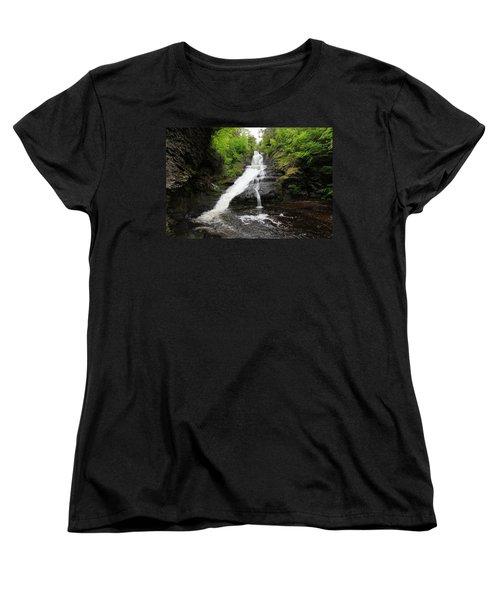 Women's T-Shirt (Standard Cut) featuring the photograph Dingmans Falls by Trina  Ansel