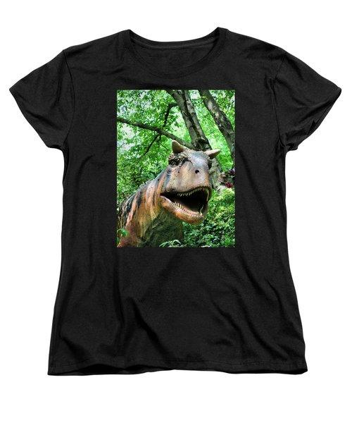 Dinosaur Women's T-Shirt (Standard Cut) by Kristin Elmquist