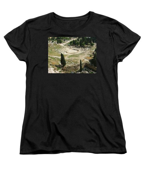 Dionysus Amphitheater Women's T-Shirt (Standard Cut) by Ellen Henneke