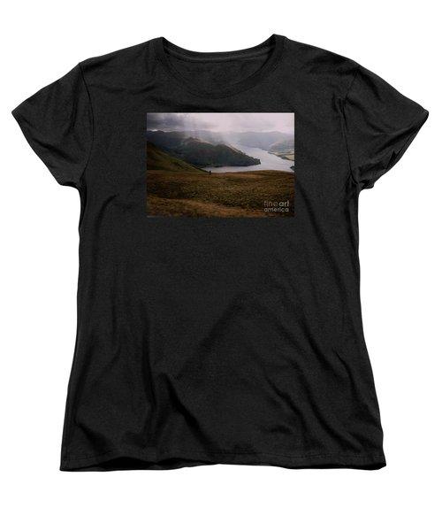 Women's T-Shirt (Standard Cut) featuring the photograph Distant Hills Cumbria by John Williams
