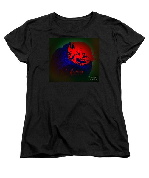 Women's T-Shirt (Standard Cut) featuring the painting Divide by Jacqueline McReynolds