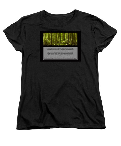 Do It Anyway Bamboo Forest Women's T-Shirt (Standard Cut)