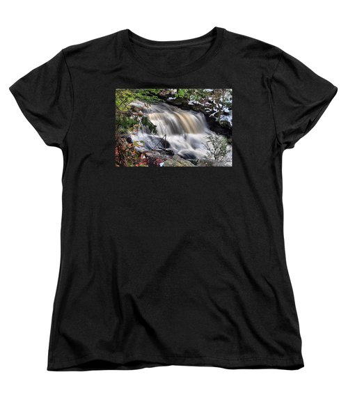 Doane's Lower Falls In Central Mass. Women's T-Shirt (Standard Cut) by Mitchell R Grosky